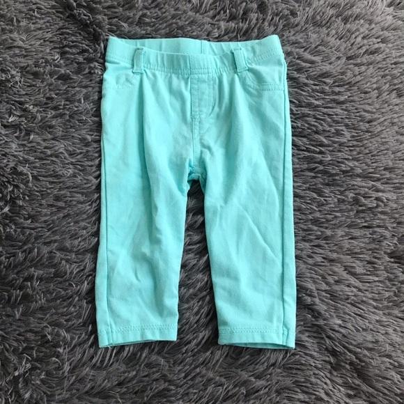 5/$25 GARANIMALS legging pants faux pockets teal